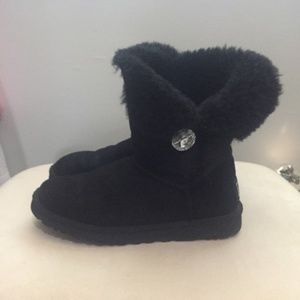 100% Authentic Bailey Button Bling Black Boot 8